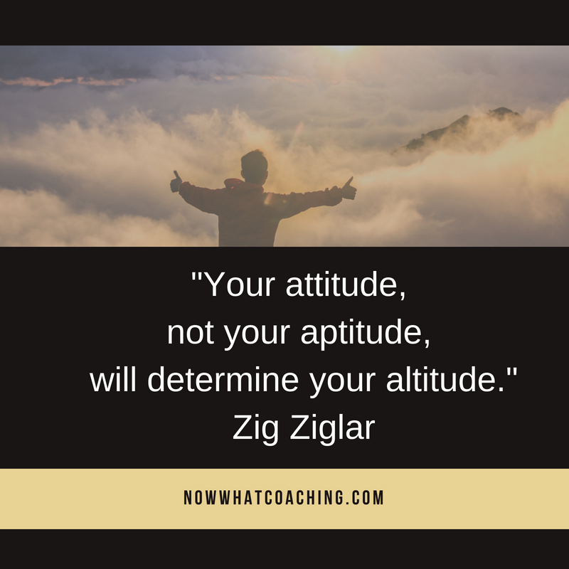"""Your attitude, not your aptitude, will determine your altitude."" Zig Ziglar"