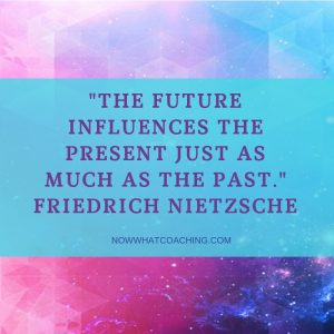"""""""The future influences the present just as much as the past."""" Friedrich Nietzsche"""