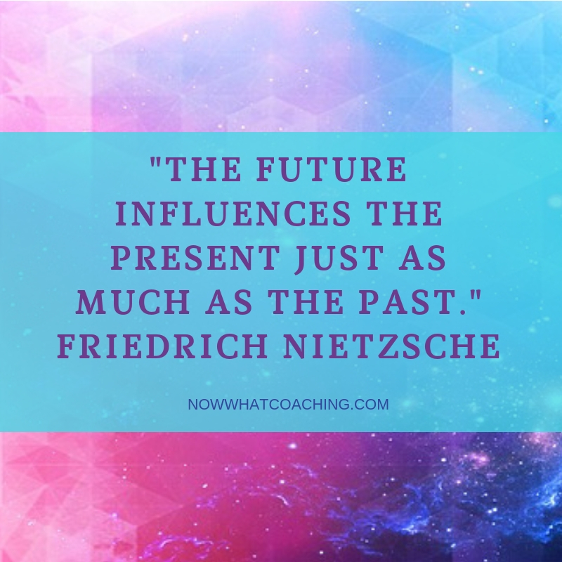 """The future influences the present just as much as the past."" Friedrich Nietzsche"
